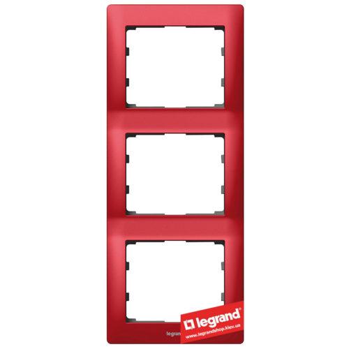 Рамка 3-я вертикальная Legrand Galea Life 771907 (магический красный)