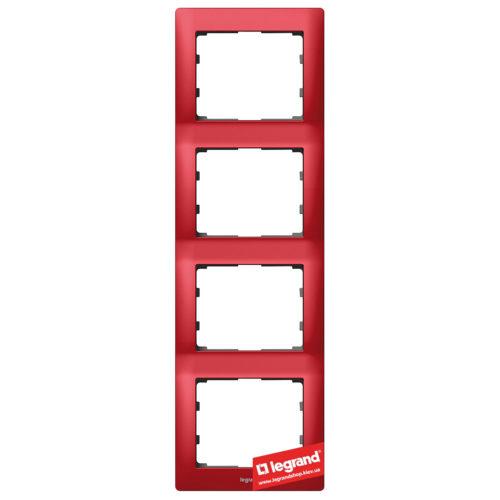 Рамка 4-я вертикальная Legrand Galea Life 771908 (магический красный)