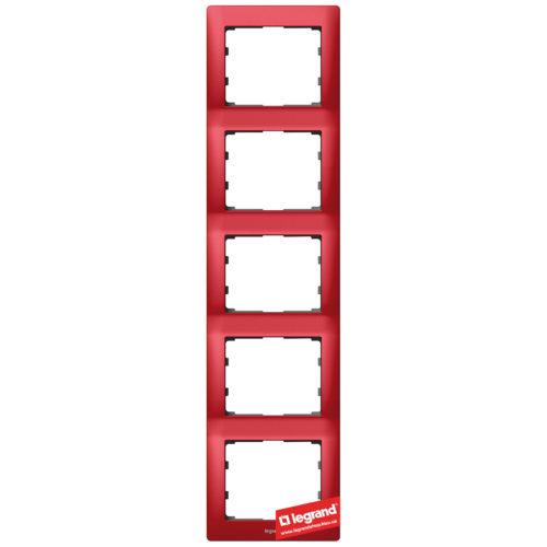 Рамка 5-я вертикальная Legrand Galea Life 771909 (магический красный)