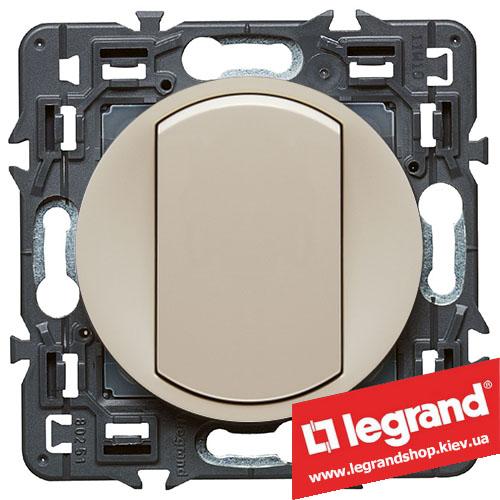 Выключатель (переключатель) одноклавишный Legrand Celiane с клавишей (слоновая кость)