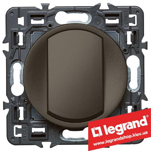Выключатель (переключатель) одноклавишный Legrand Celiane с клавишей (графит)