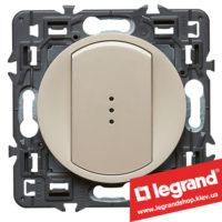 Выключатель (переключатель) 1-кл. с подсветкой Legrand Celiane с клавишей (слоновая кость)