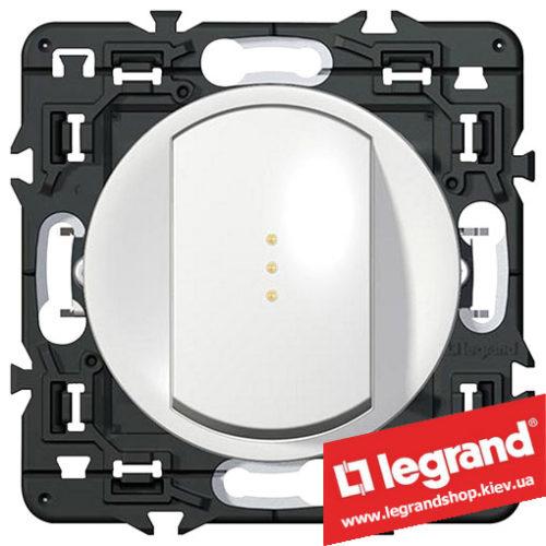Выключатель (переключатель) 1-кл. с подсветкой Legrand Celiane с клавишей (белый)