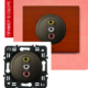 Розетка аудио-видео RCA графит