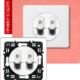 Розетка двойная компьютерная белая
