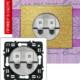 Розетка двойная компьютерная титан