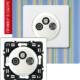 Розетка TV-RD-SAT с возможностью подключения 2-х кабелей белая