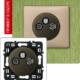 Розетка TV-RD-SAT с возможностью подключения 2-х кабелей графит