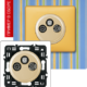 Розетка TV-RD-SAT с возможностью подключения 2-х кабелей слоновая кость