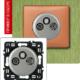 Розетка TV-RD-SAT с возможностью подключения 2-х кабелей титан