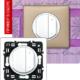 Светорегулятор 4-х клавишный 400Вт белый