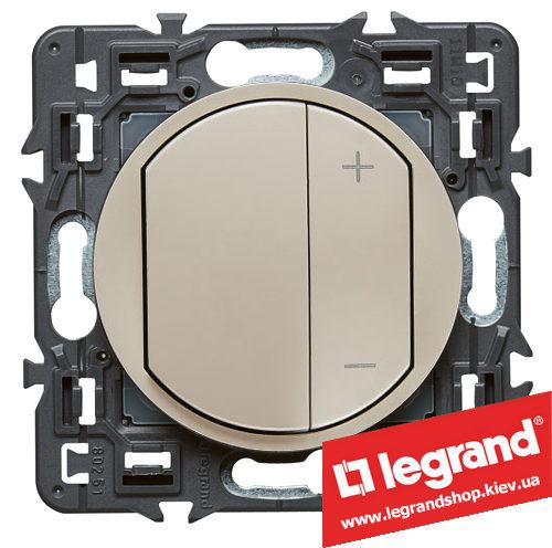 Светорегулятор Legrand Celiane 300Вт с лицевой панелью (слоновая кость)