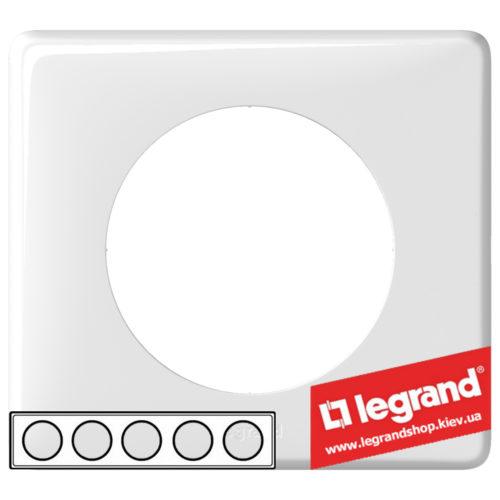 Рамка 5-я Legrand Celiane 66630 (белый глянец)
