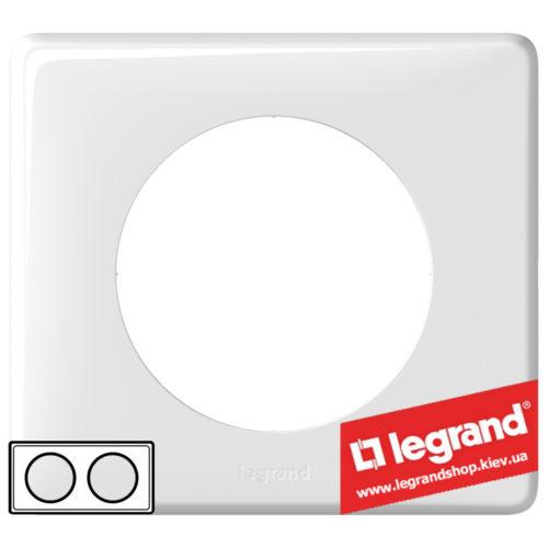 Рамка 2-я Legrand Celiane 66632 (белый глянец)