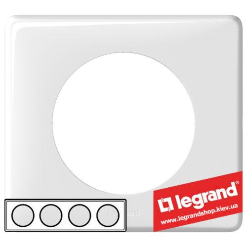 Рамка 4-я Legrand Celiane 66634 (белый глянец)