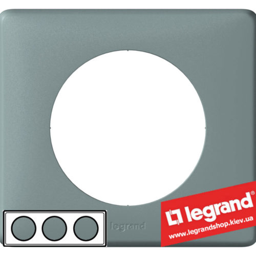 Рамка 3-я Legrand Celiane 68743 (грэй)