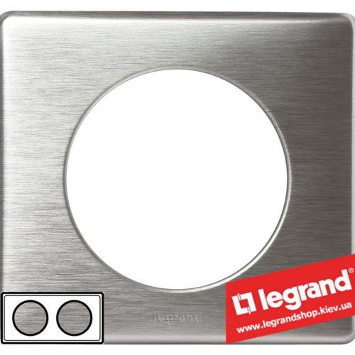 Рамка 2-я Legrand Celiane 68922 (алюминий)