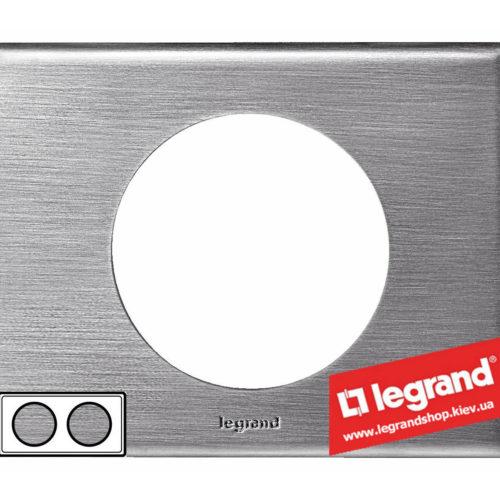 Рамка 2-я Legrand Celiane 69102 (фактурная сталь)