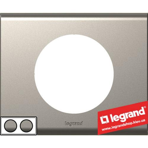 Рамка 2-я Legrand Celiane 69112 (никель велюр)