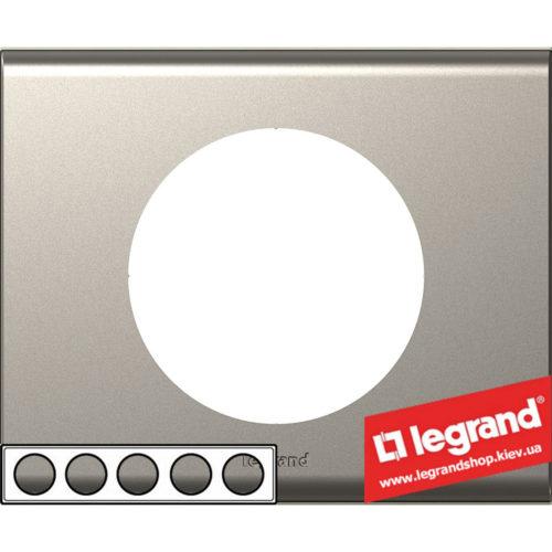Рамка 5-я Legrand Celiane 69120 (никель велюр)