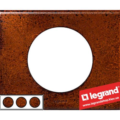 Рамка 3-я Legrand Celiane 69263 (патина феррум)