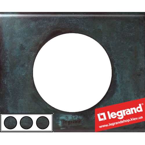 Рамка 3-я Legrand Celiane 69273 (патина медь)