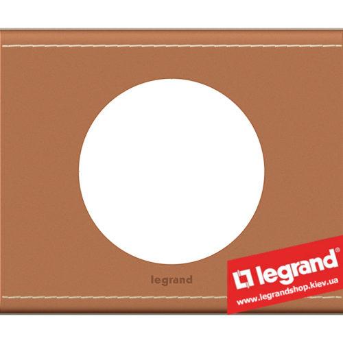 Рамка 1-я Legrand Celiane 69281 (кожа крем-карамель)