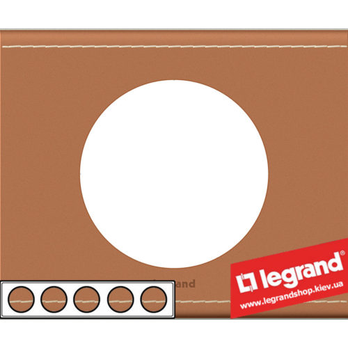 Рамка 5-я Legrand Celiane 69290 (кожа крем-карамель)