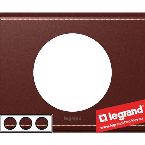 Рамка 3-я Legrand Celiane 69293 (кожа классик)