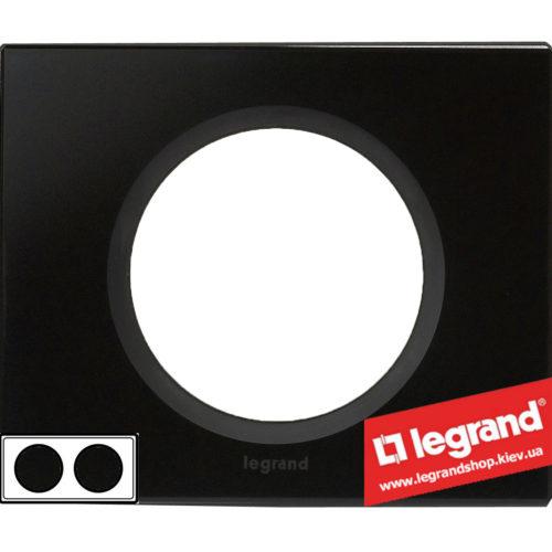 Рамка 2-я Legrand Celiane 69302 (смальта графит)