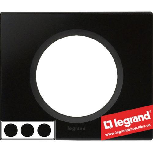 Рамка 3-я Legrand Celiane 69303 (смальта графит)