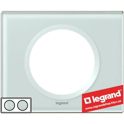 Рамка 2-я Legrand Celiane 69312 (смальта белая глина)