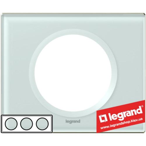 Рамка 3-я Legrand Celiane 69313 (смальта белая глина)