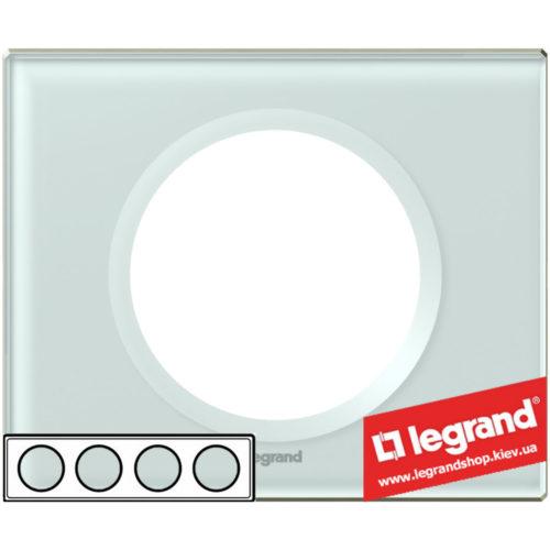 Рамка 4-я Legrand Celiane 69314 (смальта белая глина)