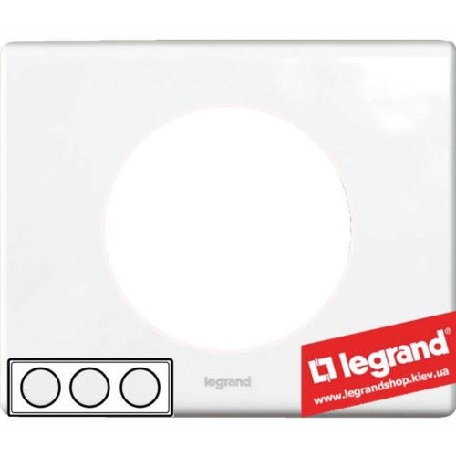 Рамка 3-я Legrand Celiane 69323 (фарфор)