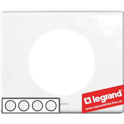 Рамка 4-я Legrand Celiane 69324 (фарфор)