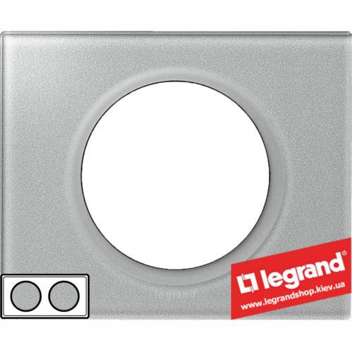 Рамка 2-я Legrand Celiane 69342 (смальта металлик)