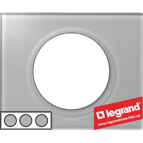 Рамка 3-я Legrand Celiane 69343 (смальта металлик)