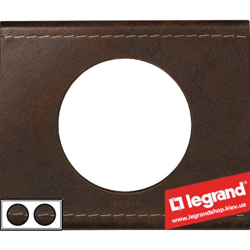 Рамка 2-я Legrand Celiane 69402 (кожа текстура)