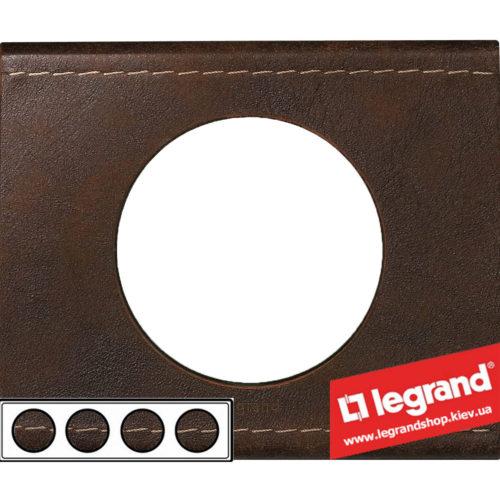 Рамка 4-я Legrand Celiane 69404 (кожа текстура)