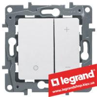 Светорегулятор кнопочный Legrand Etika 20-400Вт (белый)