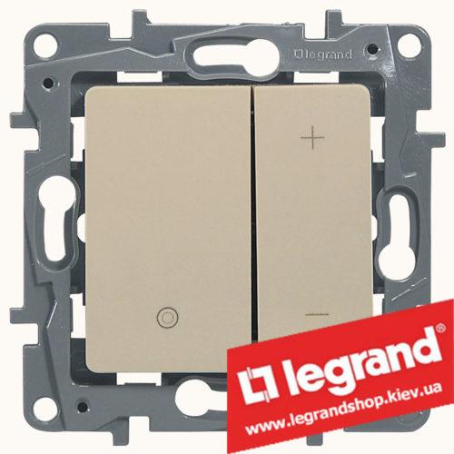 Светорегулятор кнопочный Legrand Etika 20-400Вт (слоновая кость)