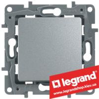 Переключатель на 2 направления Legrand Etika Plus 10А (алюминий) клеммы