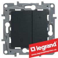 Светорегулятор кнопочный Legrand Etika 20-400Вт (антрацит)