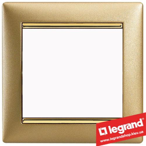 Рамка однопостовая Legrand Valena 770301 (матовое золото)