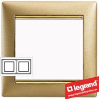 Рамка двухпостовая Legrand Valena 770302 (матовое золото)