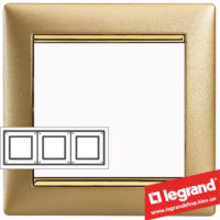Рамка трехпостовая Legrand Valena 770303 (матовое золото)