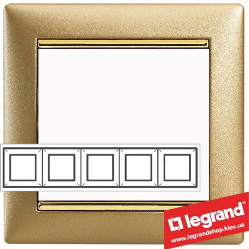 Рамка пятипостовая Legrand Valena 770305 (матовое золото)