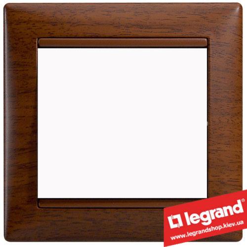 Рамка однопостовая Legrand Valena 770311 (тонированное дерево)Рамка однопостовая Legrand Valena 770311 (тонированное дерево)