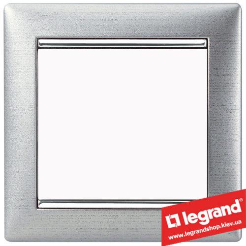 Рамка однопостовая Legrand Valena 770331 (алюминий матовый)